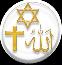 Zeichen der drei monetheistischen Religion
