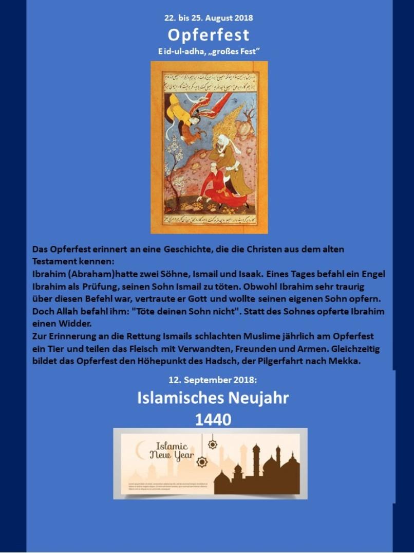 Muslimische Feiertage Blatt 4