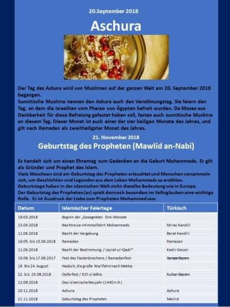 Muslimische Feiertage Blatt 5
